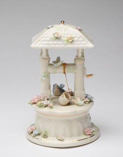 Cosmos 80097 Fine Porcelain The Wishing Well Musical Figurine, 6-1/8-Inch