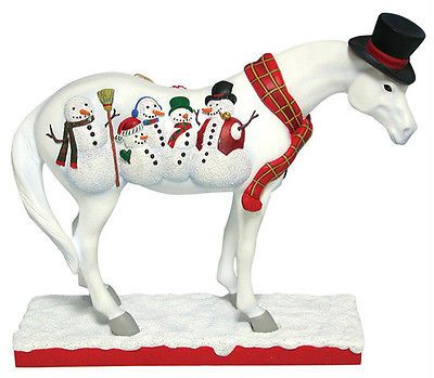 Trail of Painted Ponies FROSTY THE PONY WATER GLOBE New In Box