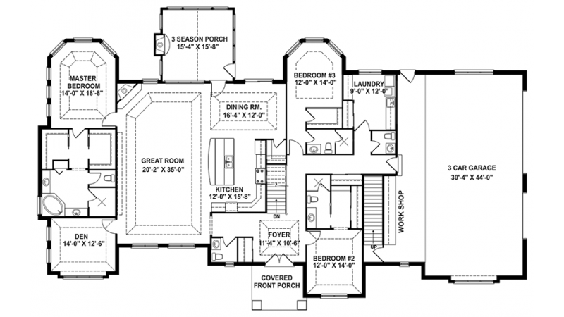 Craftsman Style House Plan 3 Beds 3 Baths 3554 Sq/Ft