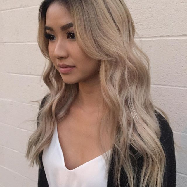 Beige Blonde Can We Talk About How Beautiful My Client Is She Came In With An Outgrown Ombre And Wanted A Root Hair Color Asian Asian Hair Ash Blonde Hair