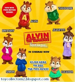 Mcdonalds Toys Alvin And The Chipmunks Toy Collector New Zealand Mcdonalds Toys Happy Meal Toys Mcdonalds