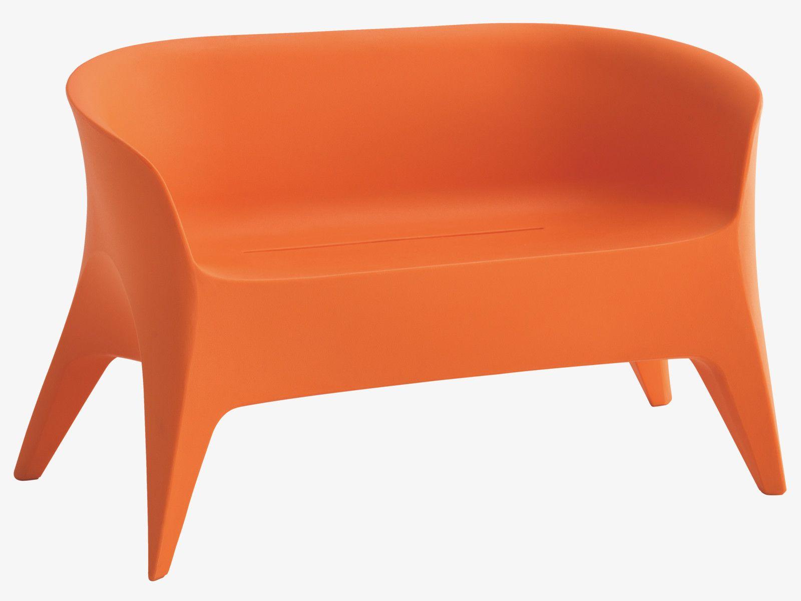 Excellent Minaji Orange Plastic Orange 2 Seater Garden Bench Ibusinesslaw Wood Chair Design Ideas Ibusinesslaworg