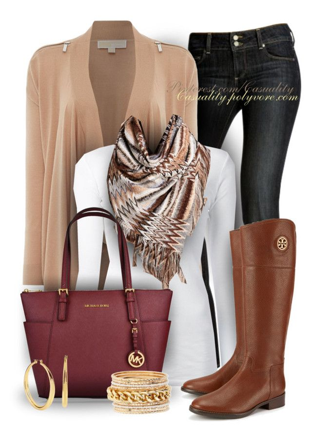 """""""Michael Kors & Tory Burch Autumn"""" by casuality ❤ liked on Polyvore featuring Paige Denim, Michael Kors, Trilogy, KristenseN du Nord, Tory Burch, Missoni, Kenneth Cole and Jules Smith"""