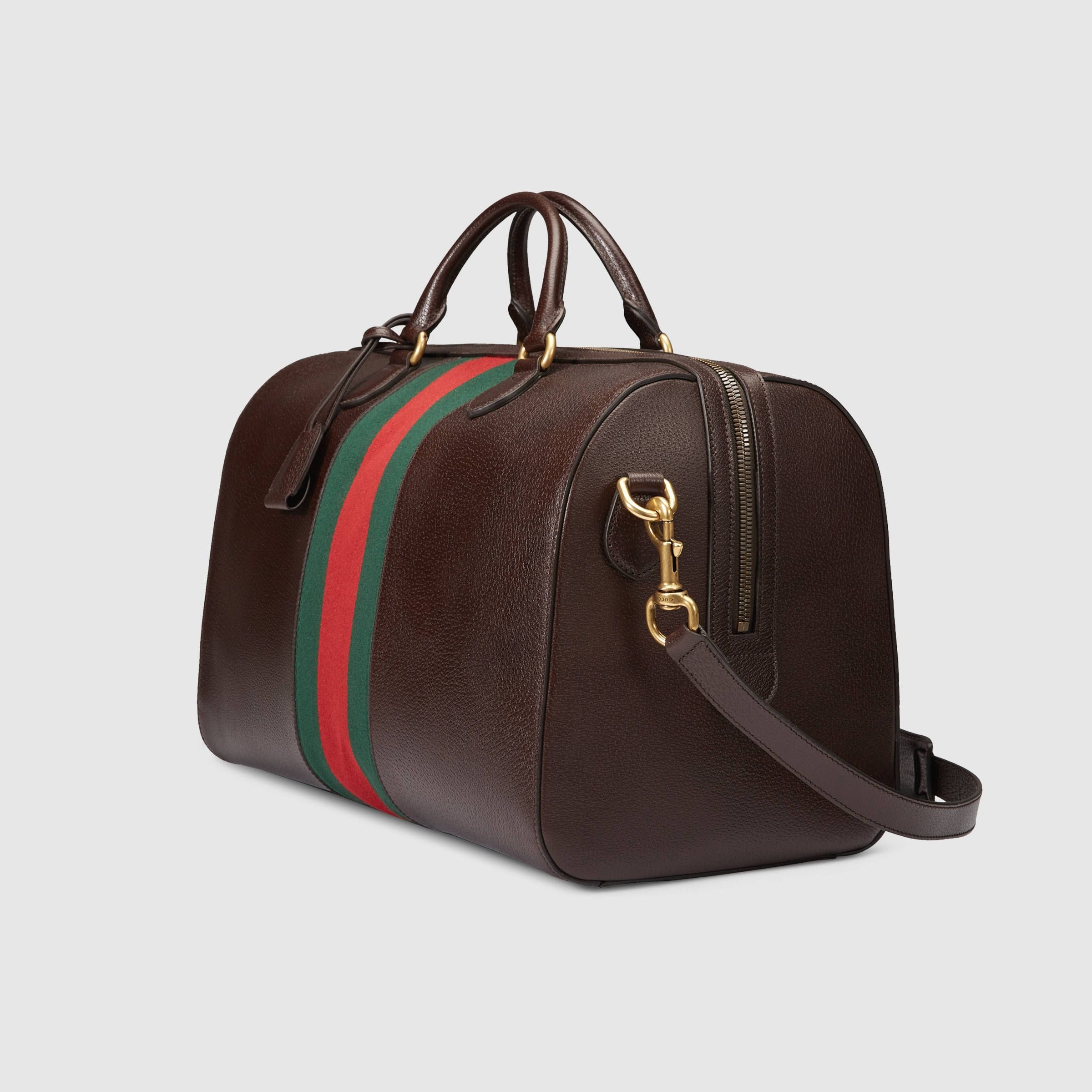 593ed7658fee Gucci Leather Duffle | expensive SH#T | Gucci travel bag, Bags, Gucci