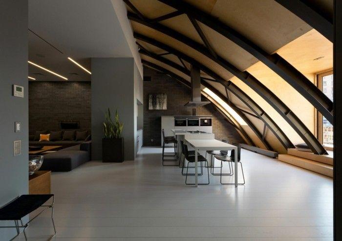 loft wohnung einrichtungsbeispiele wohnideen deko ideen offener, Wohnideen design