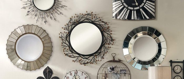 Wall Mirrors Give Wonderful Decorative Touches To The Walls Of A House.  Circular, Squared