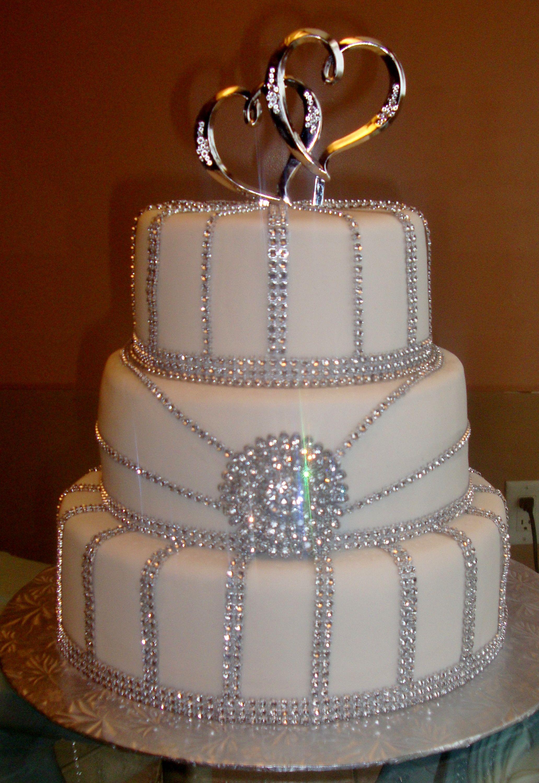Very Glamorous Bling Cake Bling Wedding Cakes Bling Cakes Wedding Cakes
