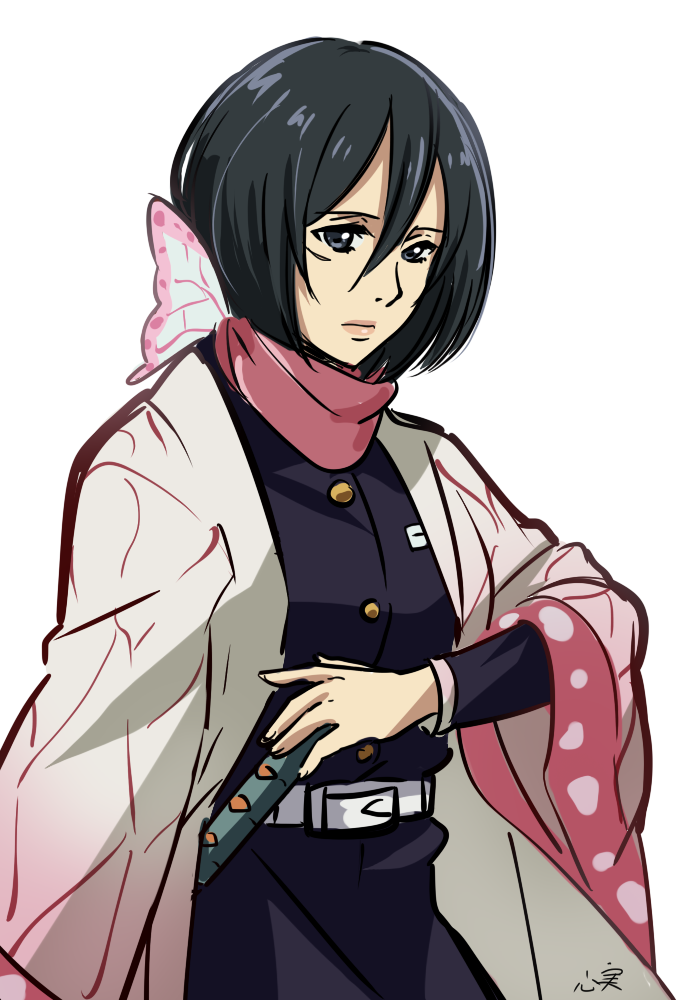 Umm can I ask a favor😖😖 can you draw mikasa in the demon