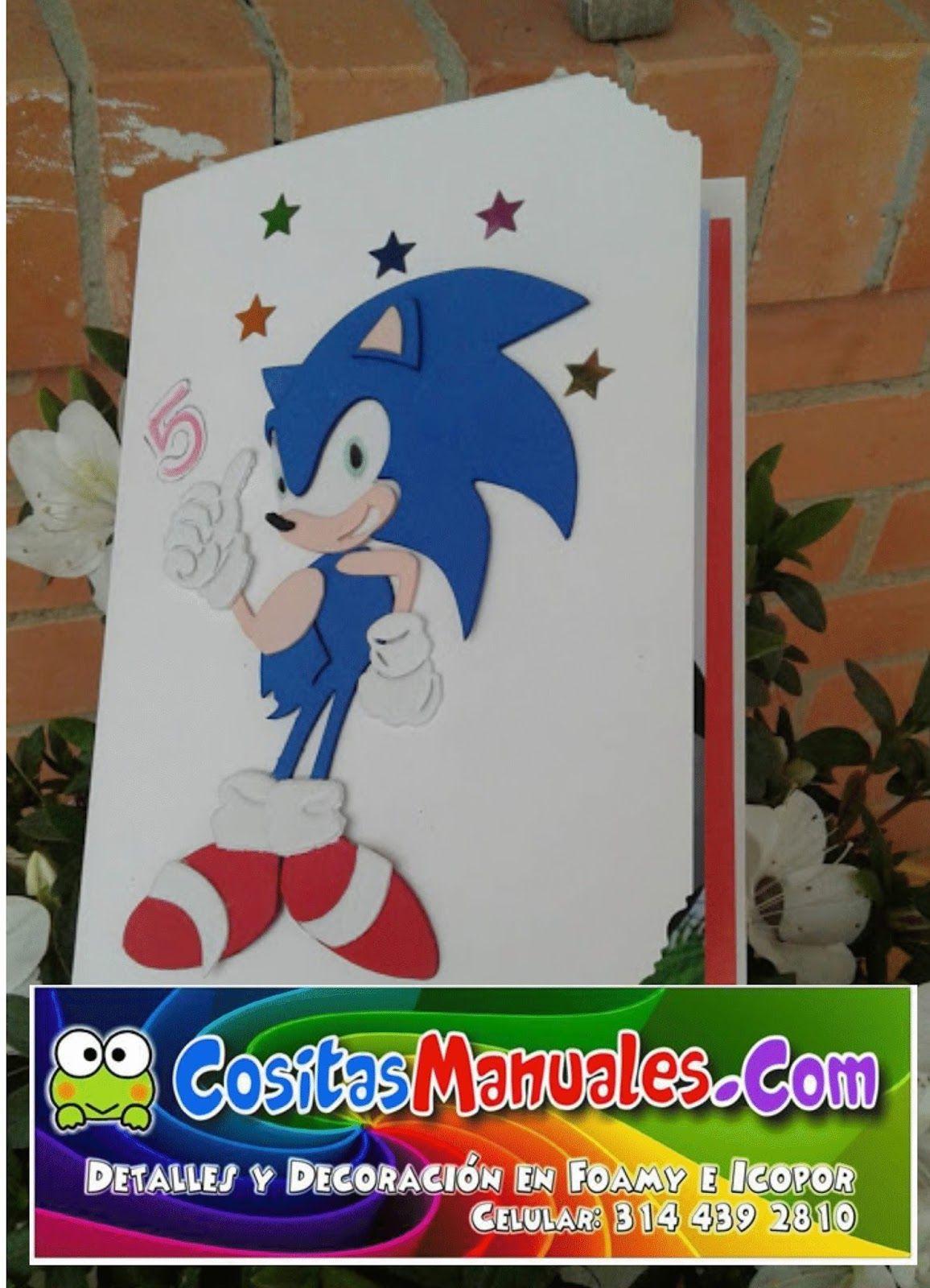 Tarjetas De Invitación Cumpleaños Temática Sonic
