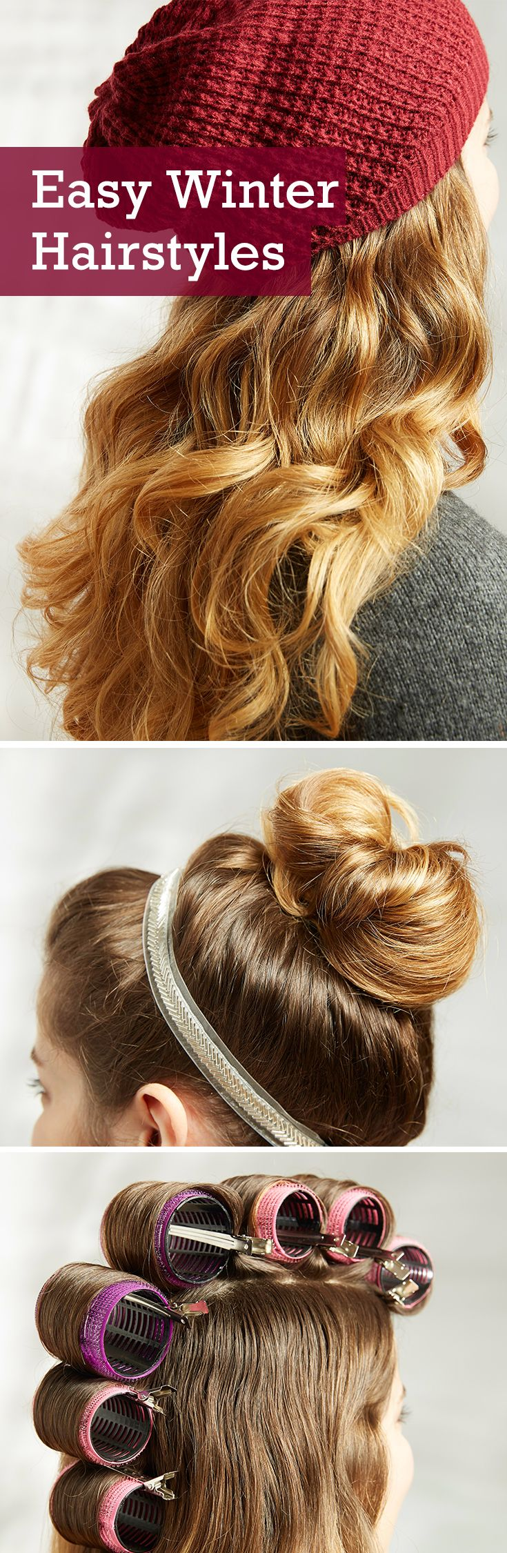Easy updos and no fuss styles with our top winter hairstyles from