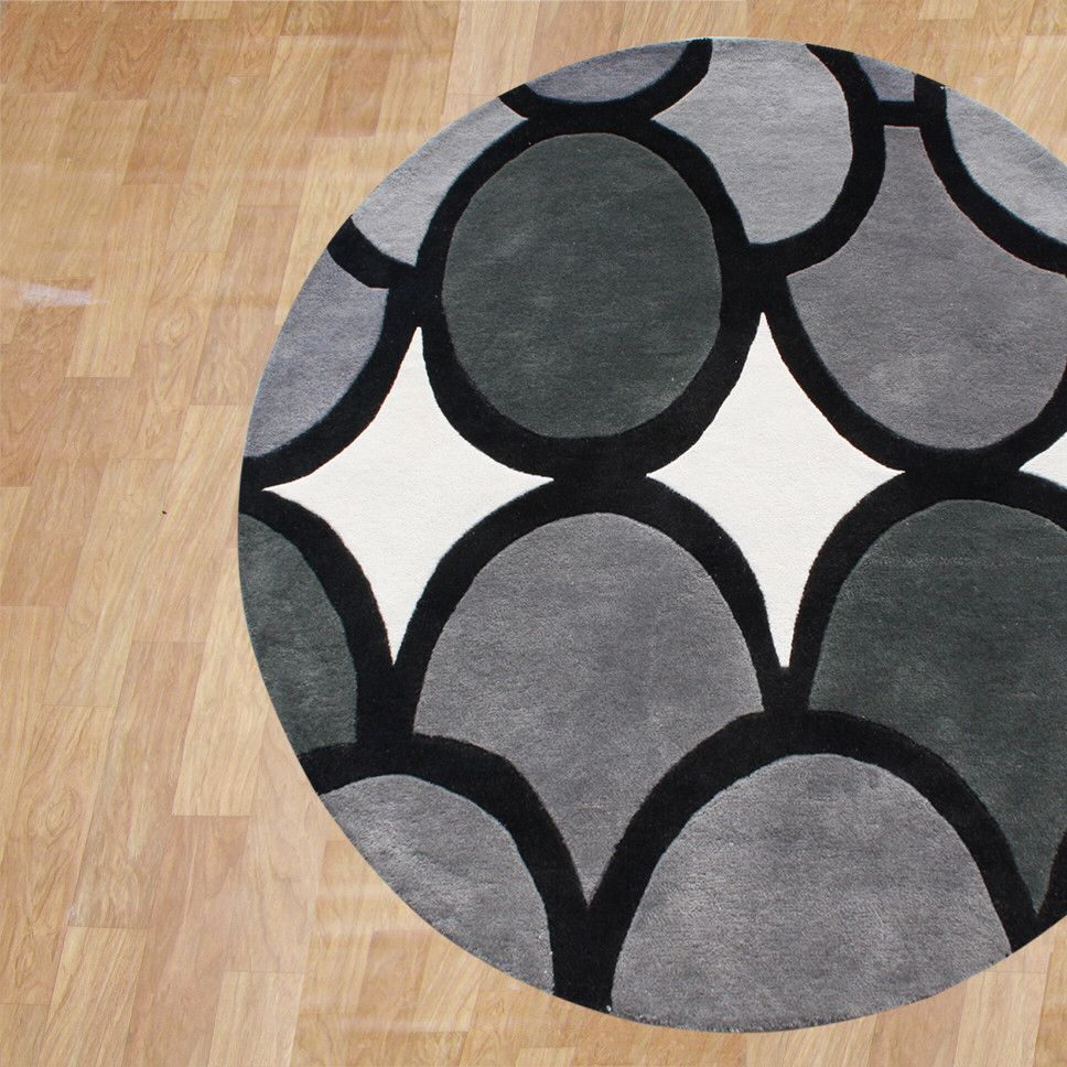Hand Tufted Gray Area Rug Grey Geometric Rug Geometric Rug Rugs