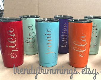 85c6376a5f1 Personalized tumblers and cups, custom wood monograms by TrendyTrimmings.  NEW 40 oz Ozark Trail™ Engraved/Etched Powder by TrendyTrimmings