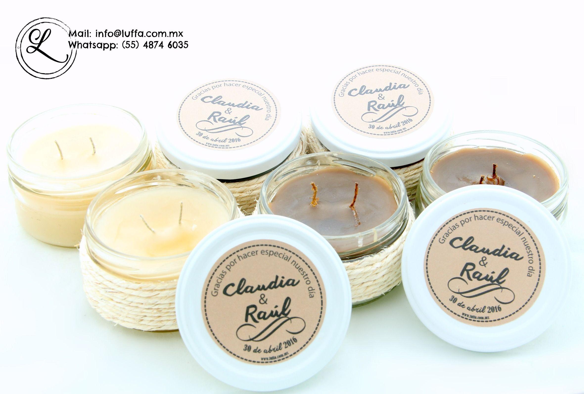 Velas arom ticas personalizadas para tus eventos jabones - Etiquetas para velas ...