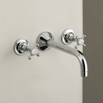 Marflow St James 3 Hole Wall Mounted Basin Mixer Taps