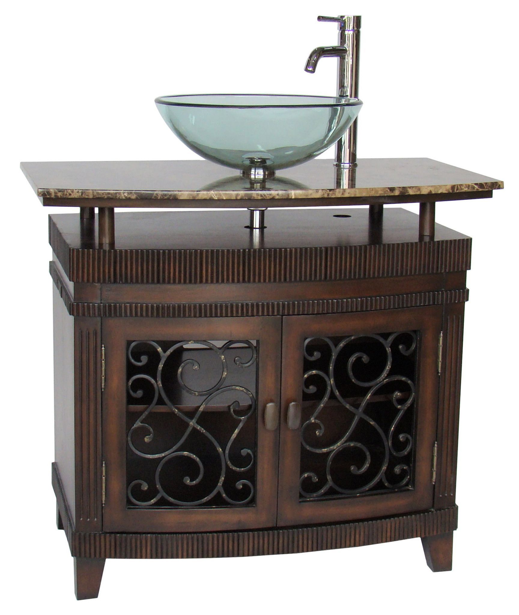 36 Benton Collection Unqiue Artturi Vessel Sink Bathroom Vanity