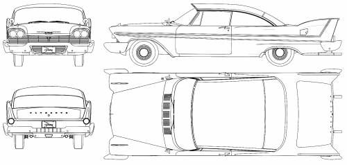 Plymouth Fury Sport 1958 ANIMESIERRAS FILE t