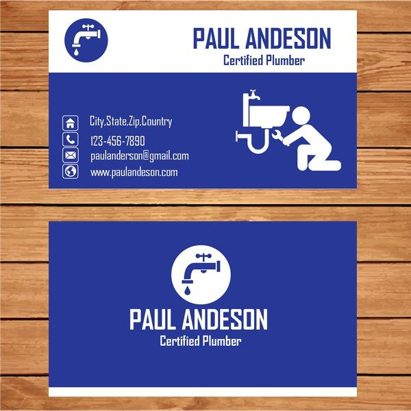 Plumber business card microsoft publisher business cards and card microsoft publisher plumber business card template flashek Choice Image
