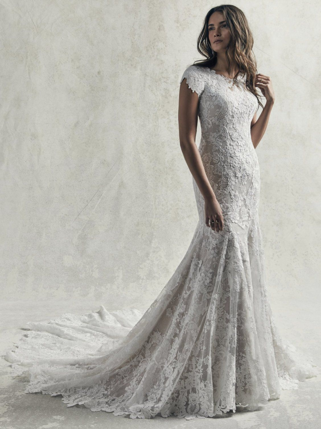 472f6168c Sottero and Midgley - CHAUNCEY LEIGH, An ultra-romantic modest lace wedding  gown,