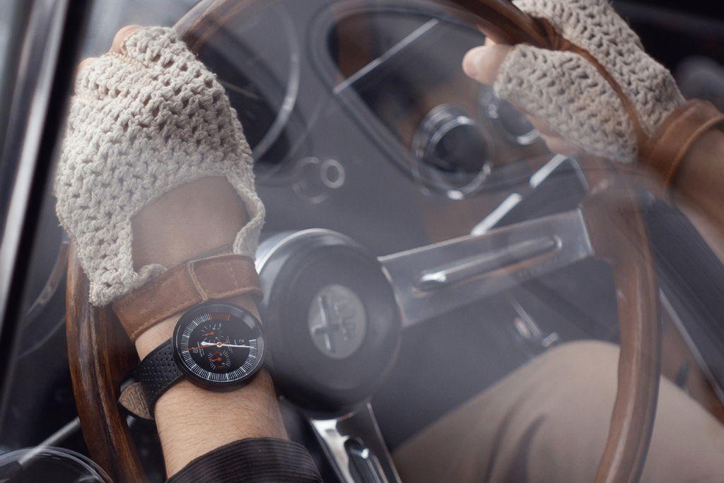Autodromo Vallelunga Chronograph Chronograph - Alfa romeo driving gloves