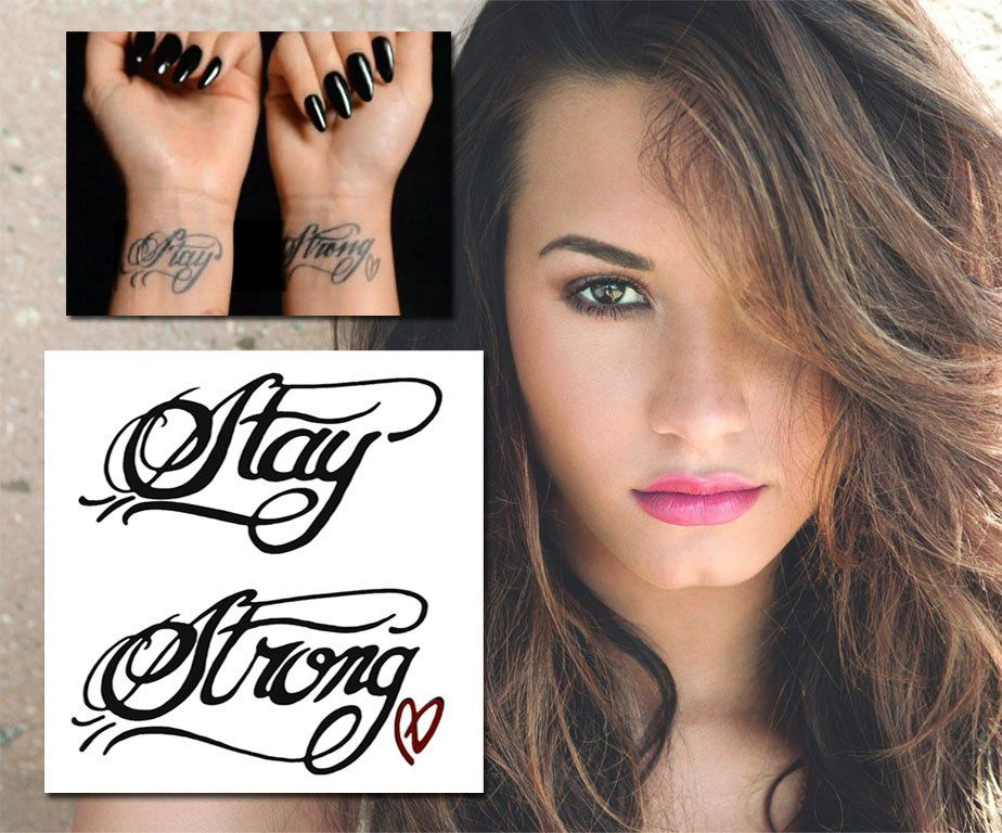 Demi Lovato Stay Strong tattoo