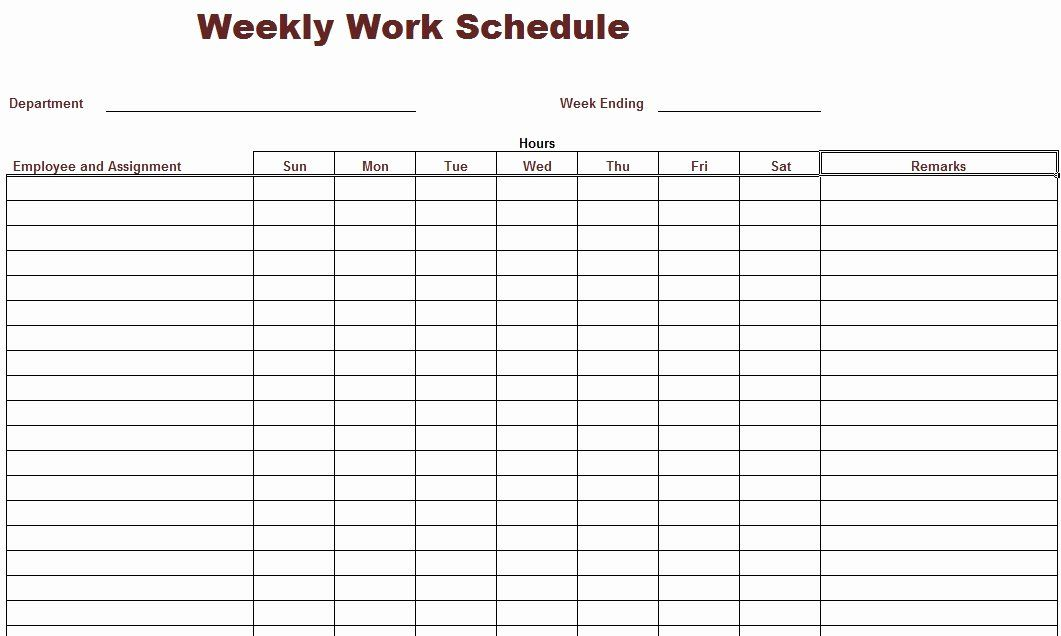 Free Printable Employee Schedule Lovely Weekly Work Schedule Template I Crew Peterainsworth Schedule Template Daily Schedule Template Work Schedule