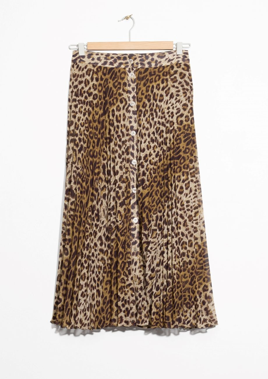 Other Stories image 2 of Leopard Pleated Skirt in Leopard Print ... 96acf2cae