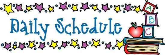 Daily Schedule Clipart | Homeschool schedule, Teaching schools, Teacher  binder