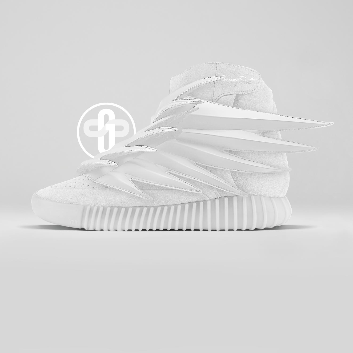 Jeremy Scott x Adidas Yeezy Boost 750 White Wings http://feedproxy.google