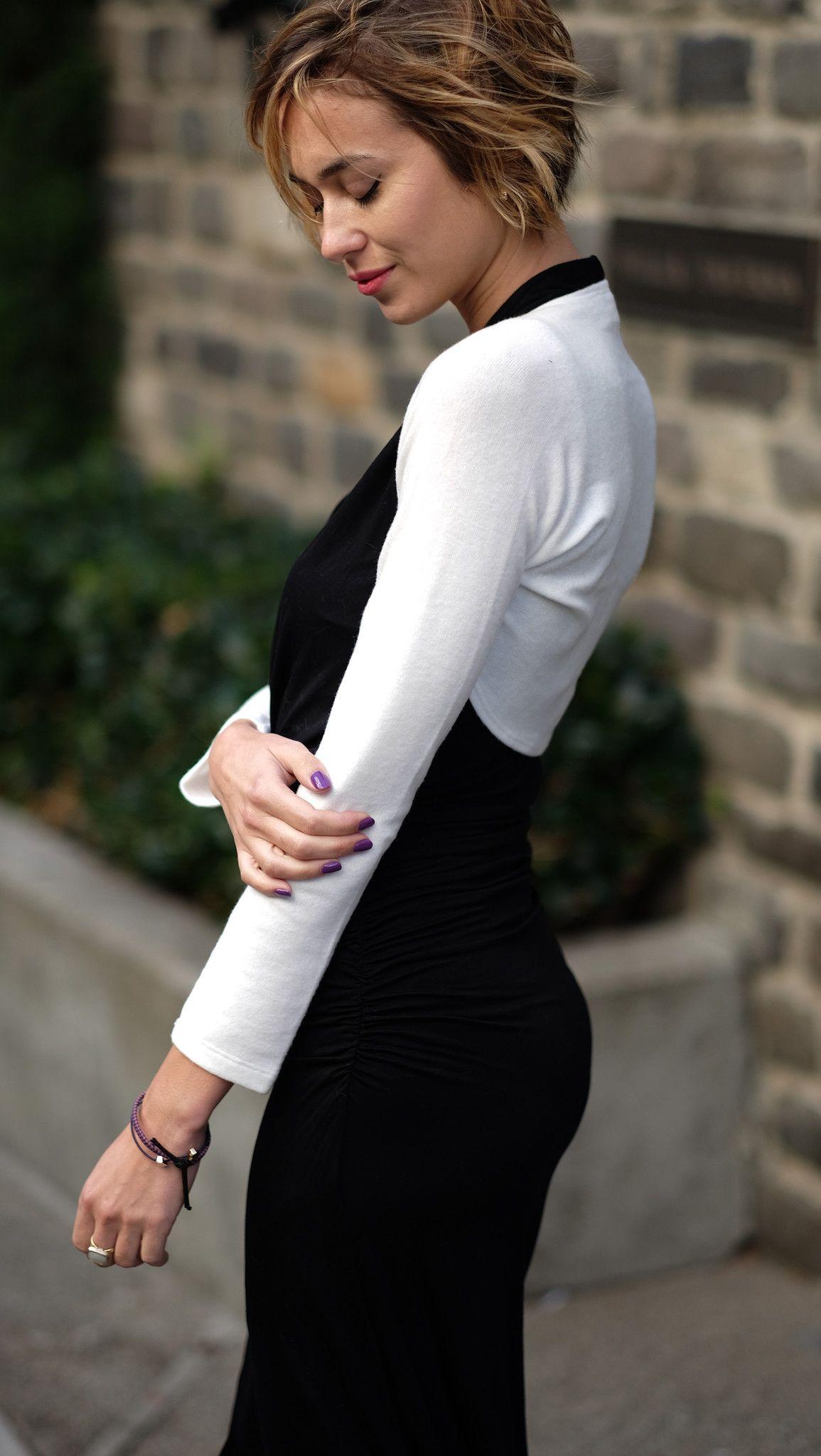 Long Sleeves Fitted Bolero Sweater Shrug Lightweight | Boleros