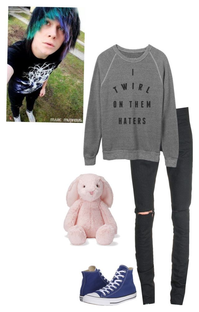 """-cuddles the bunny-//Justin"" by kawaiimonster81 ❤ liked on Polyvore featuring Yves Saint Laurent, Converse, men's fashion and menswear"