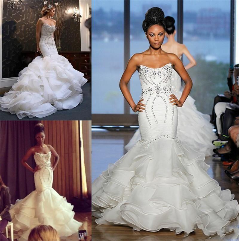 2016 new retro mermaid wedding dresses luxury strapless for Strapless backless wedding dress