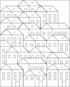 Pretty Little Quilts: Hillside Houses Coloring Sheet #coloringsheets