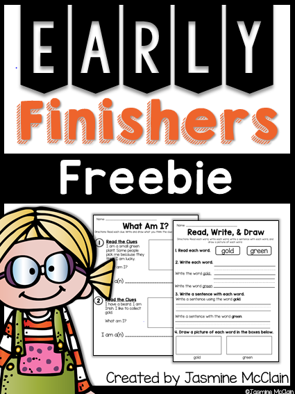 Early Finishers Freebie Math early finishers, Second