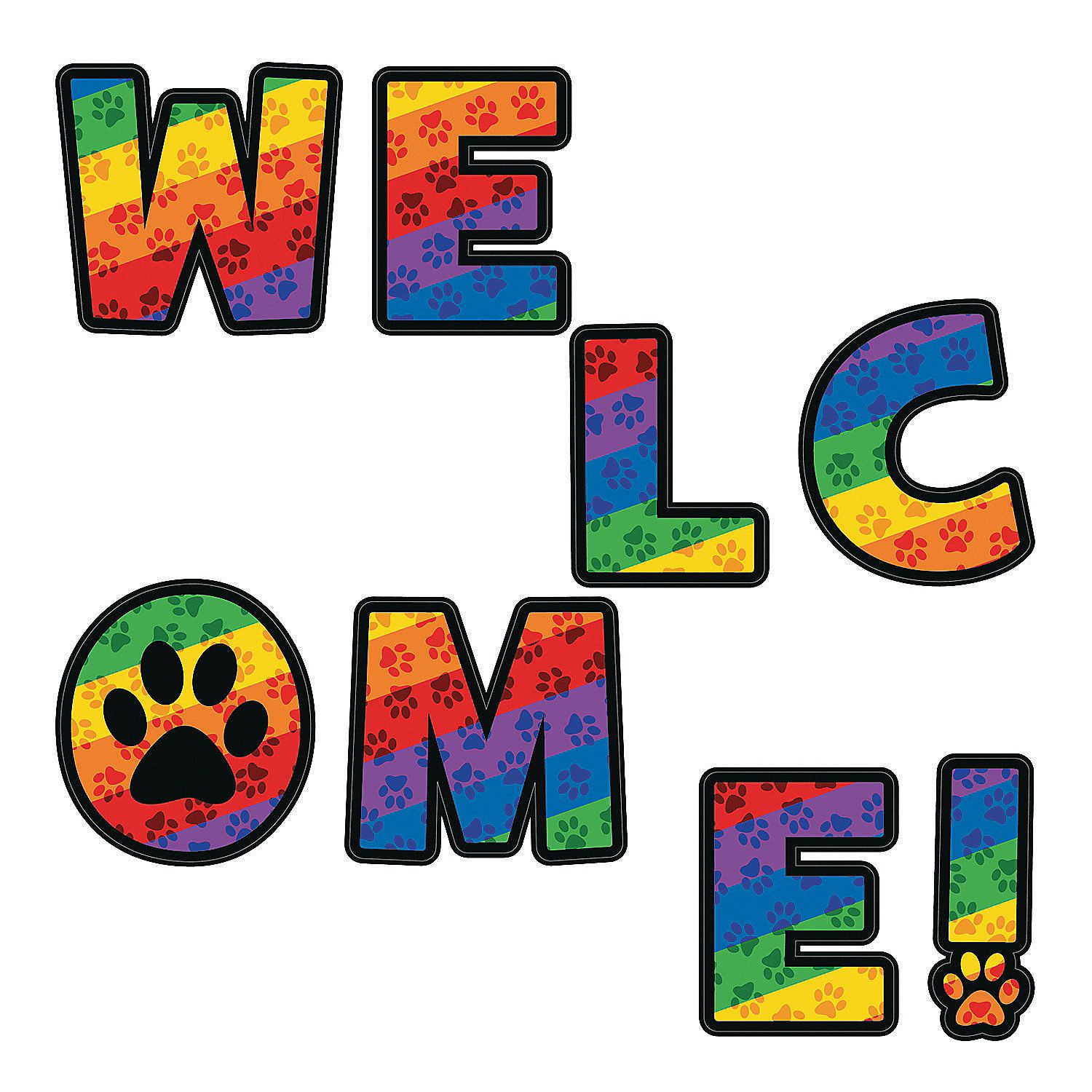 Paw Print Welcome Letters With Images