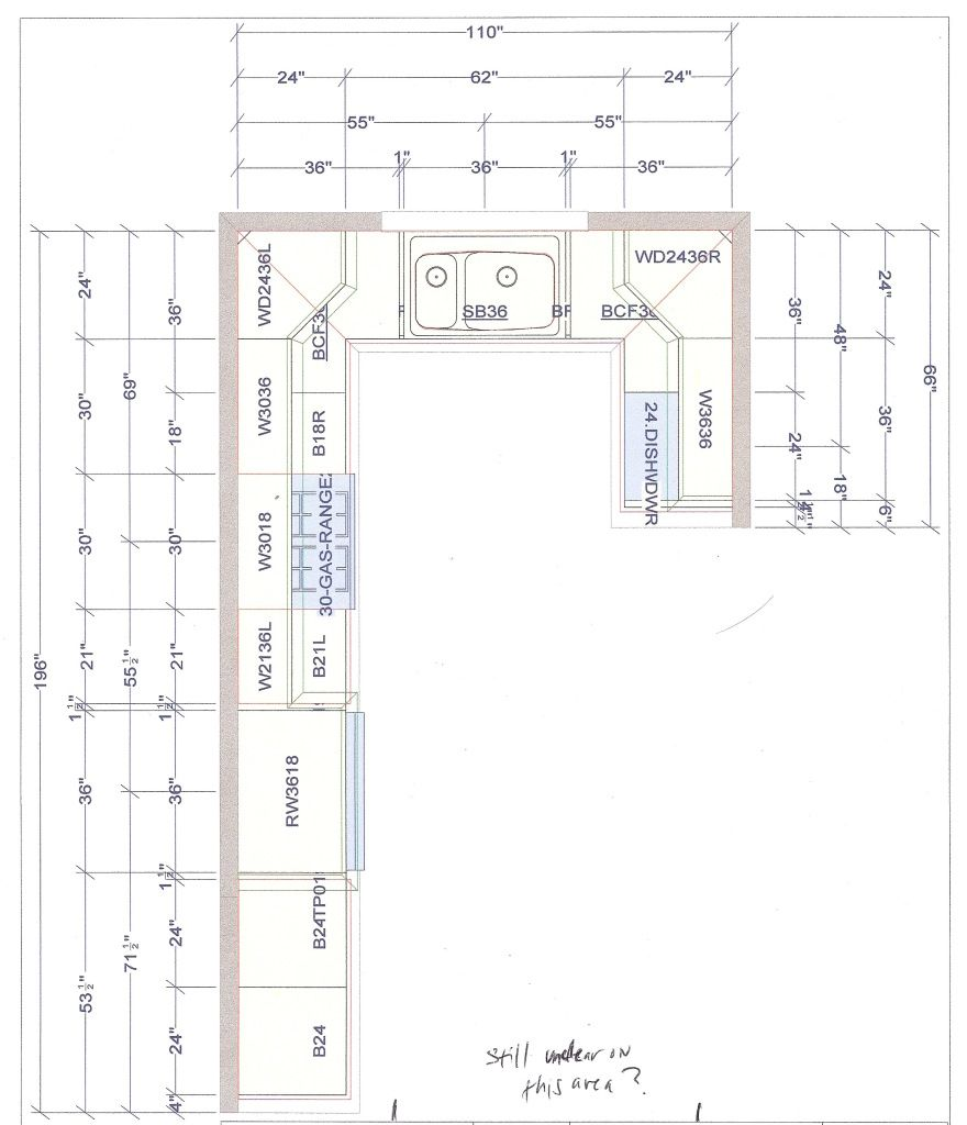 Kitchen Plan L Shaped Layout: L-Shaped Kitchen Layout With Perpendicular Dishwasher