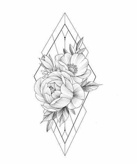 Tattoo Geometric Rose Ink 41+ New Ideas
