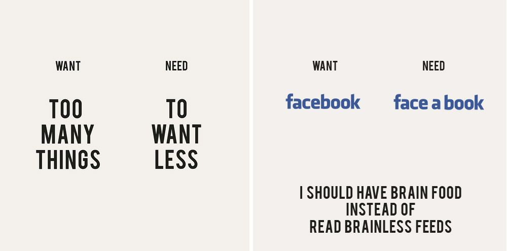 Need to Want Less