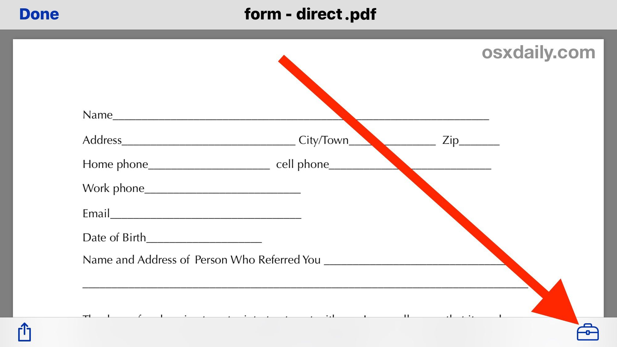 Fill Out A Pdf Form And Edit Pdf From Iphone With Markup Resume Resume Template Visual Resume