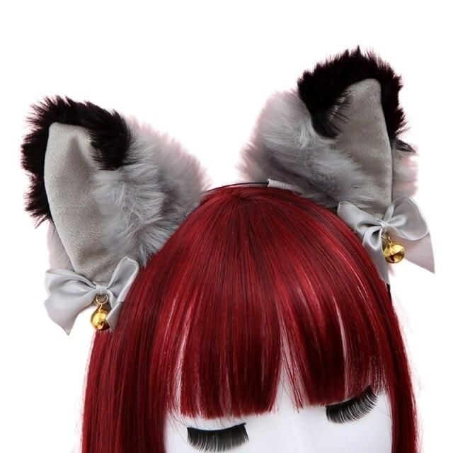Photo of Women Sweet Lovely Anime Lolita Headband Cute Furry Plush Cat Ears Hair Hoop with Bowknot Small Bells Fancy Dress Cosplay Party – 23
