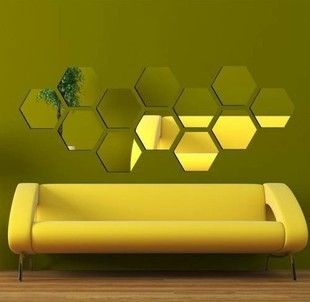Hexagon Mirror Home Pinterest Home Decor Decor And Wall