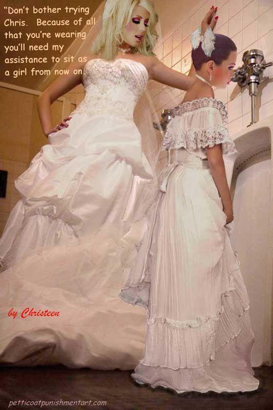 wearing dress boys Sissy wedding