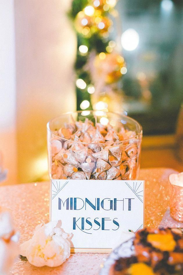 New Year's Eve Wedding with Lots of Sparkle