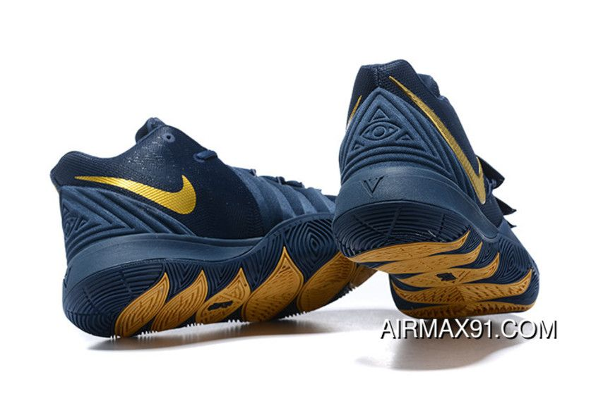 new arrival 9a342 d3685 Nike Kyrie 5 Navy Blue/Metallic Gold New Release   nike ...