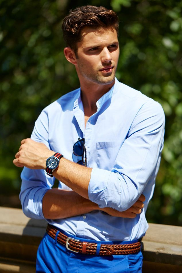 Why A Collarless Shirt Is The Look Of The Summer J Adore