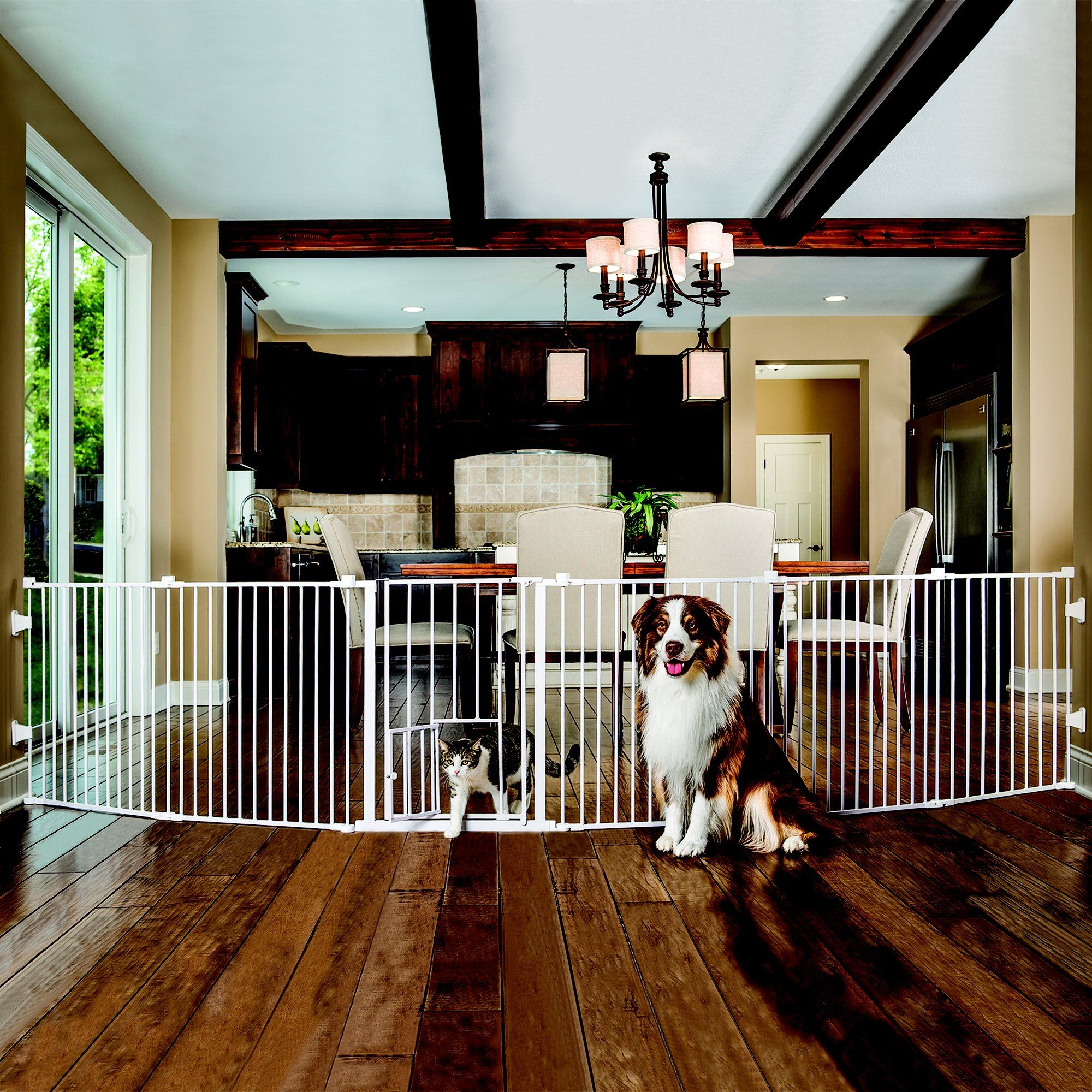 Carlson 2 In 1 Super Pet Gate And Pet Yard Petco Pet Gate Dog