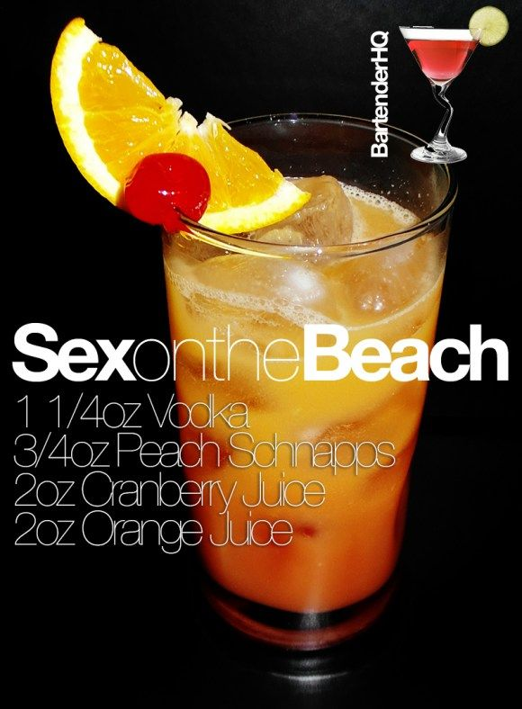 Alcohol in sex on the beach