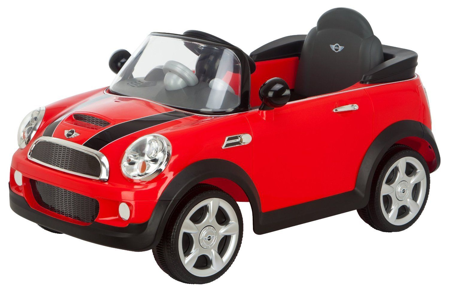kid car mini cooper red girls boys toddler riding car electric mini car