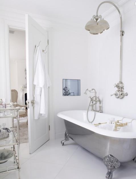 Vintage Farmhouse Gray White Bath Beautiful Bathrooms Pretty
