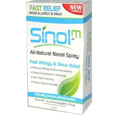 Sinol-M Homeopathic Allergy & Sinus Relief Nasal Spray, 0 5