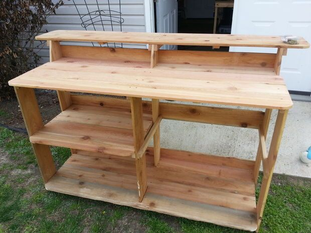 How to Make an Outdoor Bar and Grilling Prep Station Meuble